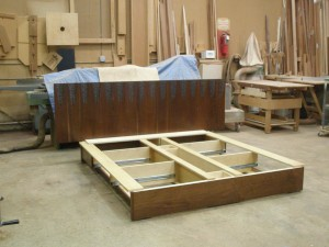 Platform bed construction