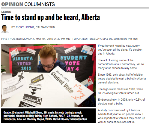 Read the whole feature about our campaign in the Calgary Sun  here.