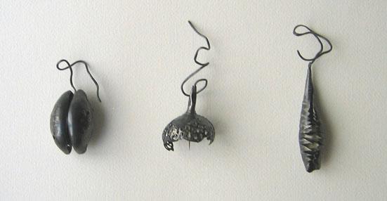 Pendants - 2007 - sterling silver, bone