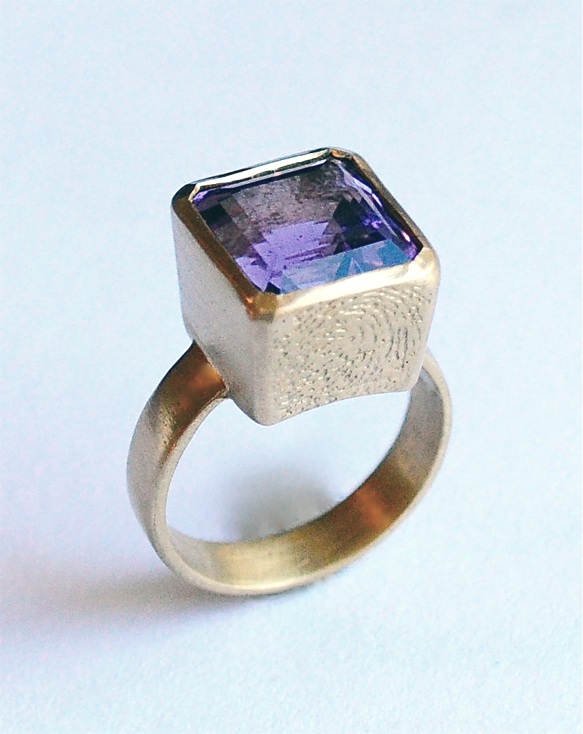 Recycled gold, heirloom amethyst - 2012
