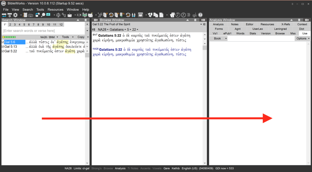 Default program layout