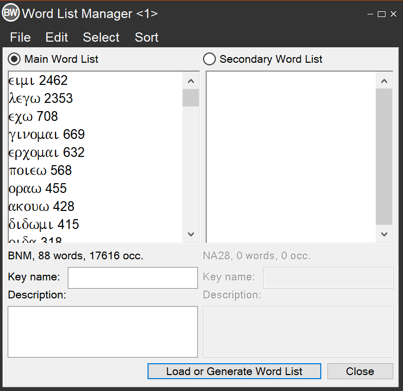 Word List Manager