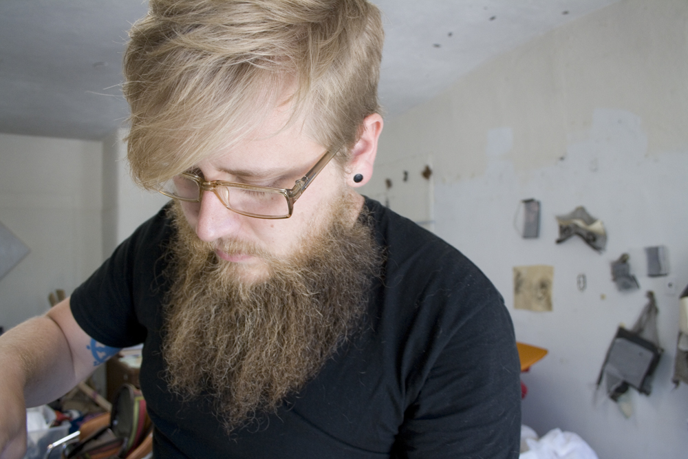 Jared in his Santa Fe studio, 2013