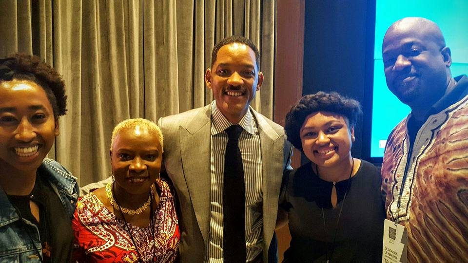 From Left to Right: Eden, Angelique Kidjo, Will Smith, Leshae, Sheldon