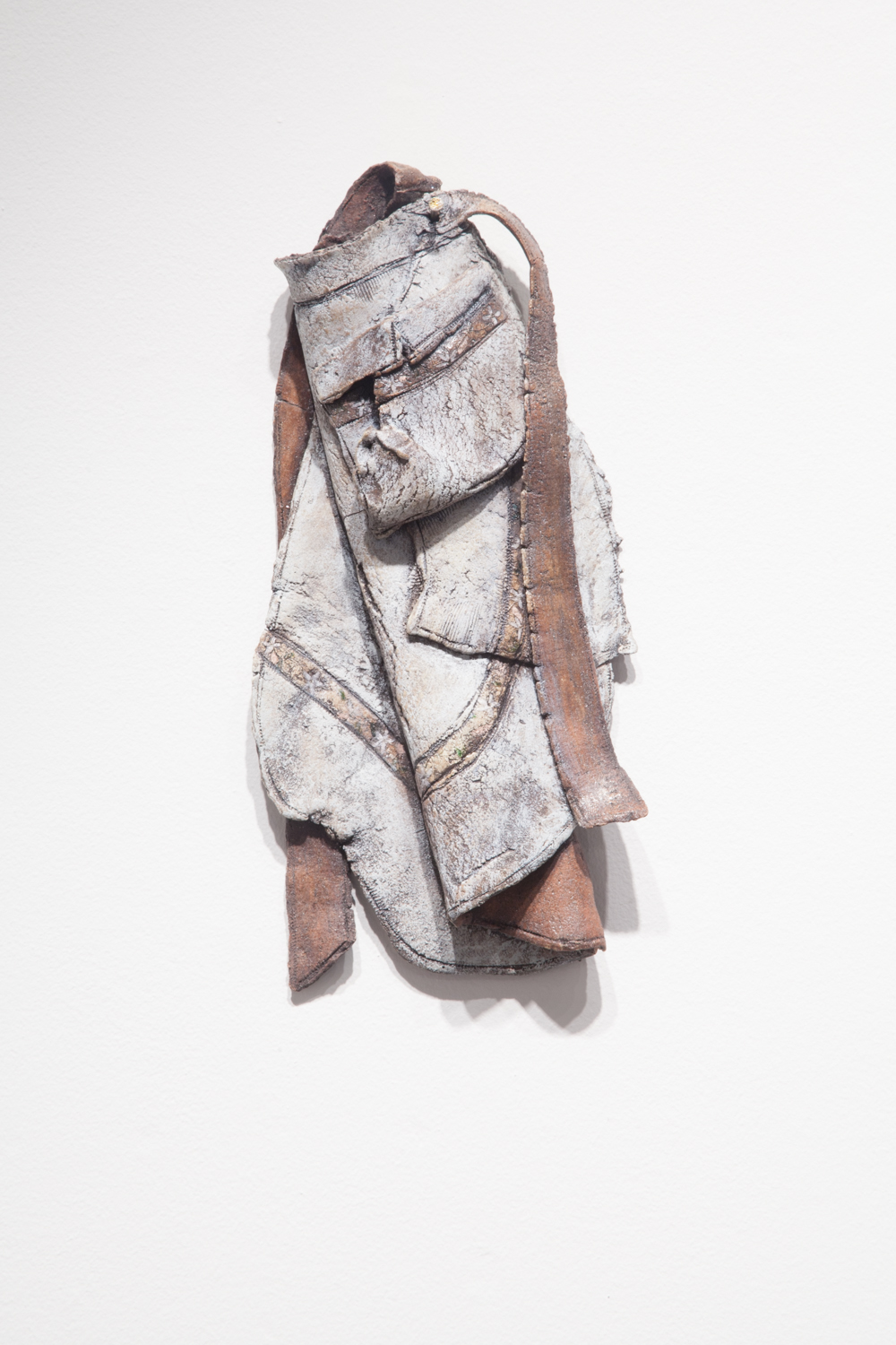Claire Shurley     G-mama's Apron     reclaimed stoneware, dirt from Shurley farmland, slip, stain, glaze, cone 6 oxidation