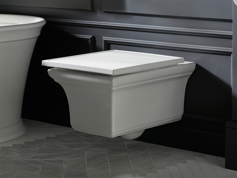 Wall-mounted toilet by Kohler