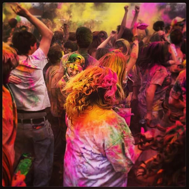Mormons get down at Sri Krishna festival in Utah.             .  #krishna #utah #color #colour #festval #fun