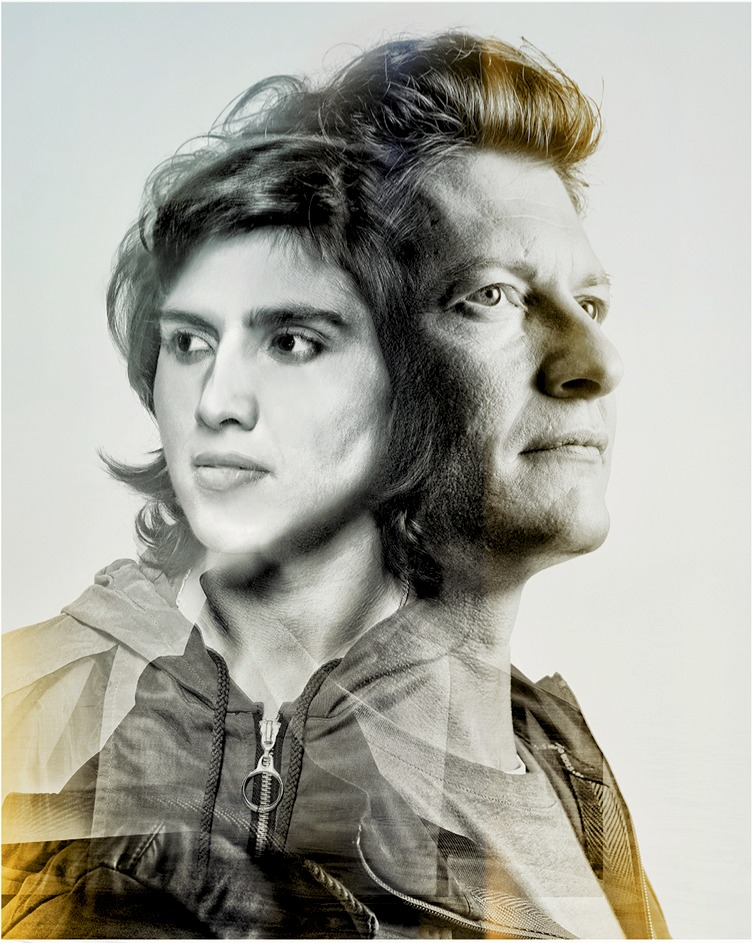 Portrait of Jonathon Power and his protege Maria Wazir
