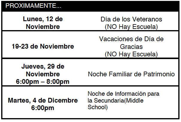Coming up Nov09 Spanish.png