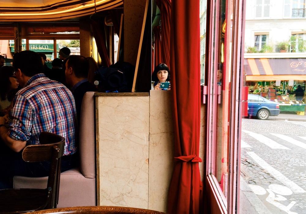 Café des Duex Moulins in Montmartre.