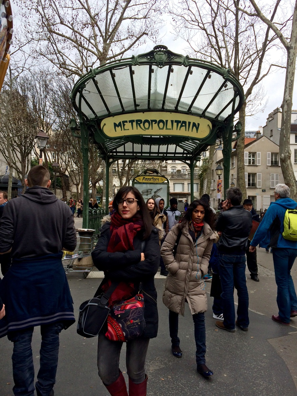 The Abbesses Metro near Sacre Coeur, and The Love Wall.