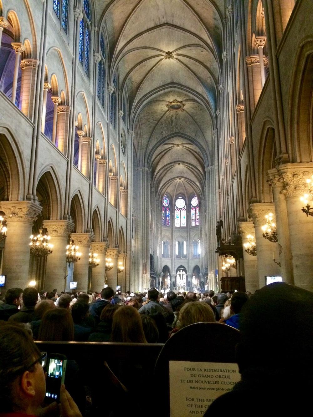 Inside Notre-Dame for Easter.