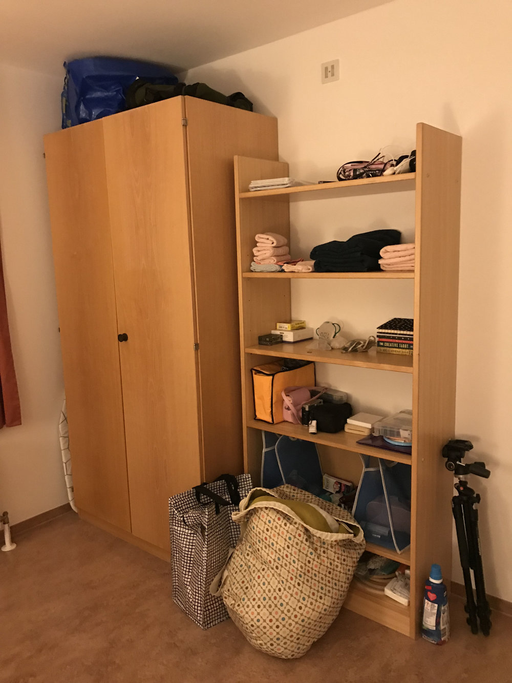My little room, my home for the next year, after IKEA.