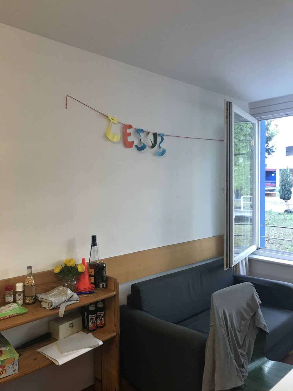 A banner in the common room that I want to know the story behind.