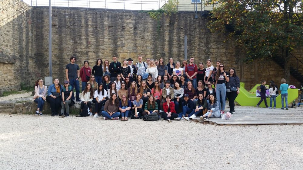 Group photo of international students in Marbach.