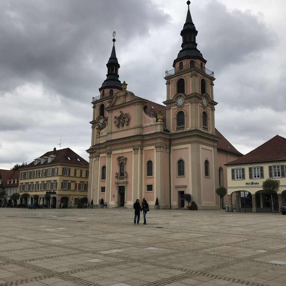 Evangelical Church in the market square in Ludwigsburg.
