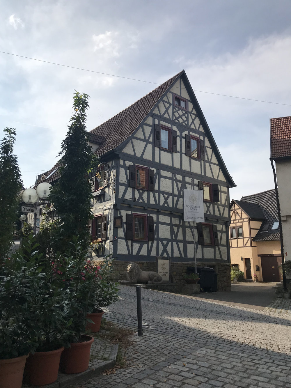 Marbach, the birthplace of the poet Schiller.