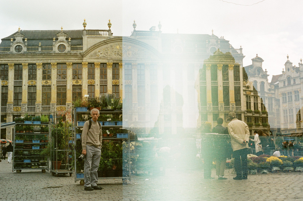 """Photographer's Tag"" 35mm Double Exposure Brussels, Belgium"