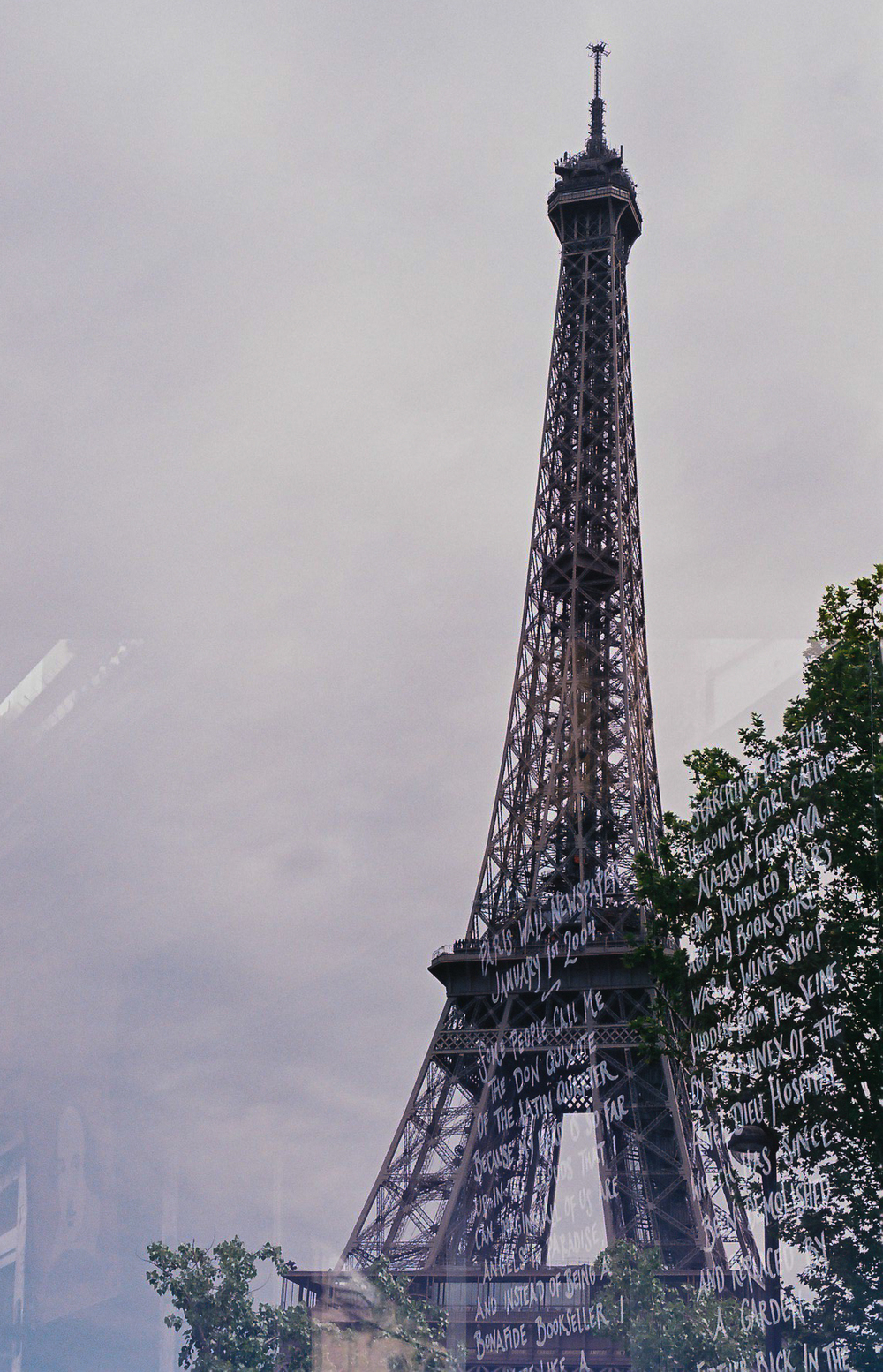 My Eiffel Tower 35mm Film Double Exposure