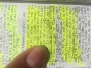 Galatians 2:3-5 in case you can't read sideways. Blame Squarespace's app limitations, not my heart.