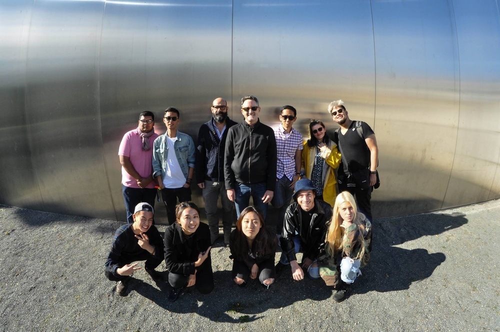 Underground Berlin Top Left to Right: Joshue Molina, Duy Dao, Prof. Michael Sans, Prof. Robert Ball, Alvin Oei, Tatiana Cardenas, and Giafranco Ocampo   Bottom Left to Right: Elbert Tiao, Cerra Teng, Yeun Kim, Seth O'Hara, and Michelle Parrott Image by Robert Thompson