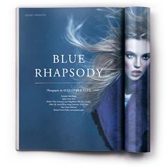Ретушь фотосессии «Blue Rhapsody»..