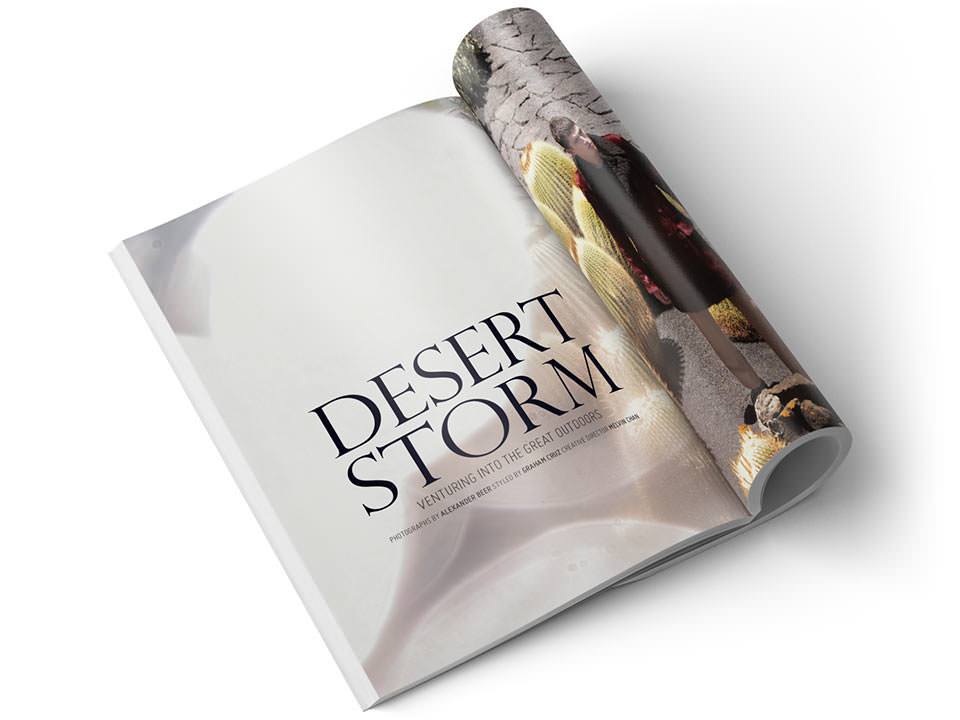 Ретушь фотосессии «Desert Storm» для издательства Burda International..