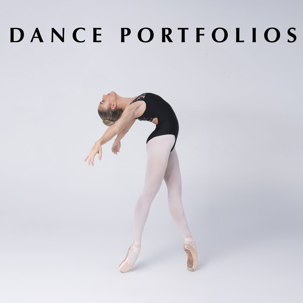 - Update your dance portfolio at one of our fun and affordable Dance Mini-Sessions or for something a little more spectacular, book a private Portfolio Session. We work closely with the dancer to create poses that will showcase their abilities so we can capture that