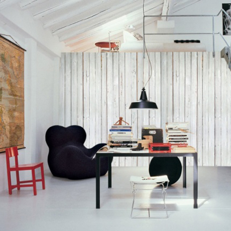 How to add depth with a wall mural heart home - Madera paredes interiores ...