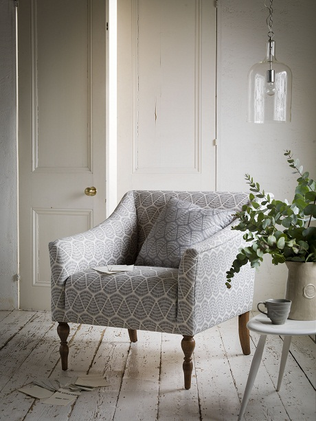 Bon Sofa.com Avalon Armchair In Shells Grey U0026 White £620
