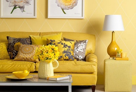 Sunny Yellow Living Room Design Ideas 600x405 Part 87