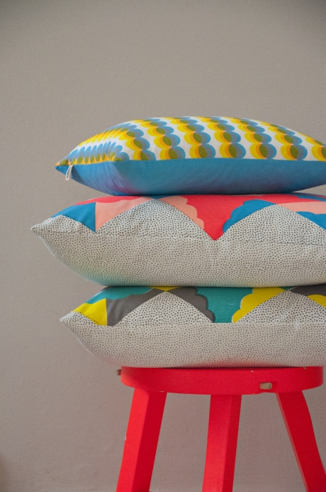 hand printed cushions by Kangan Arora