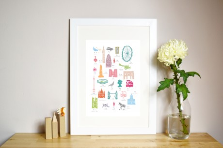 A Z London Print by Holly Francesca