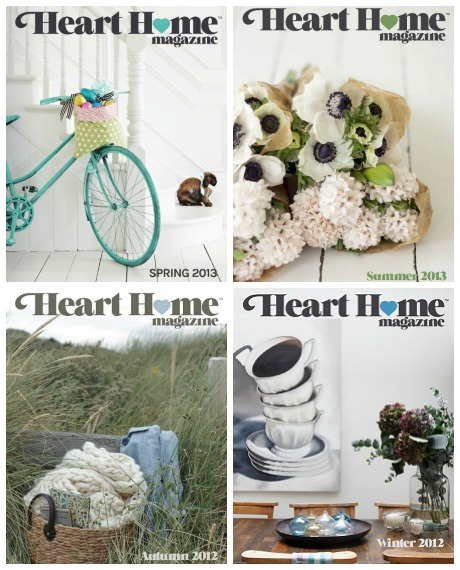 Heart Home magazine covers 1