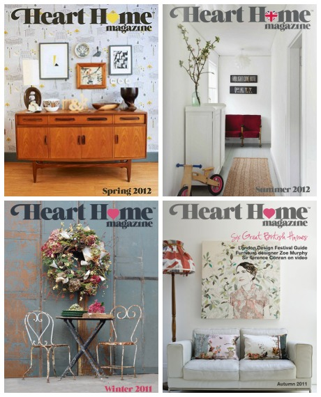 Heart Home magazine covers 2