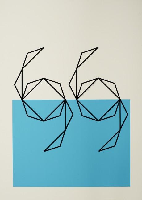 Lane-swimming-blue-print
