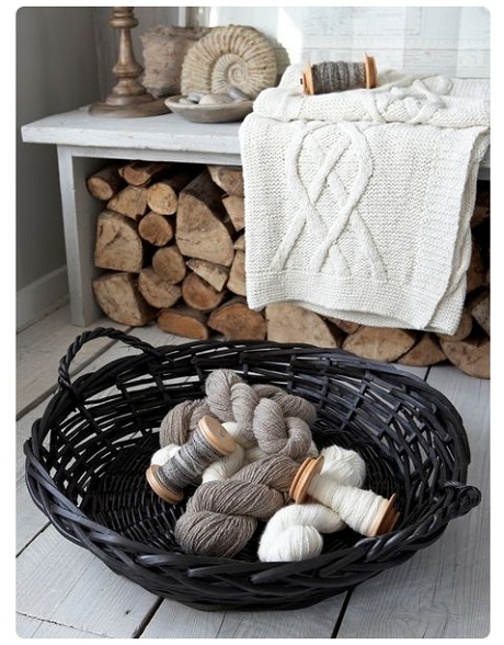Large Willow Basket, £28.00 - Nordic House