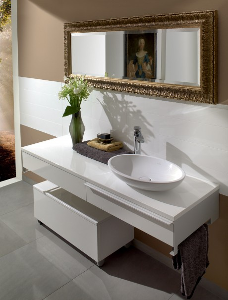 Loop Basin and Shape Furniture - white