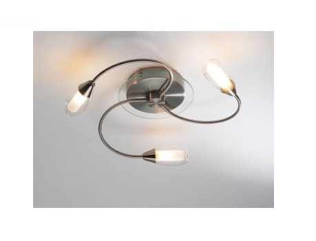Mail Order lighting - Dar Lighting Tugel 3 light flush satin chrome finish
