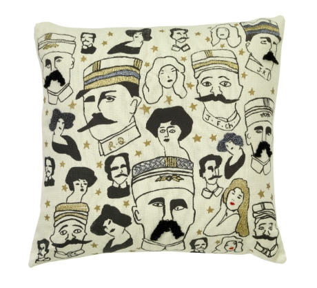 Moustaches cushion, £125