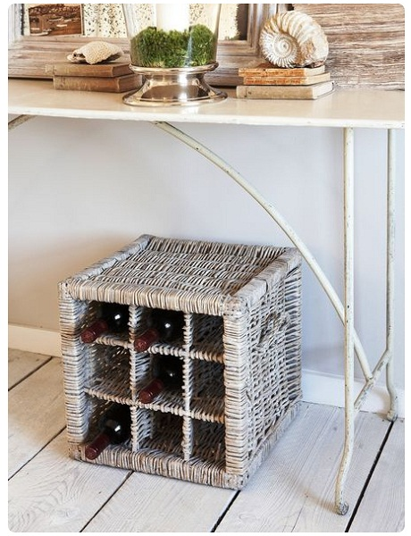 Natural Willow Wine Rack, £59.95 - Nordic House