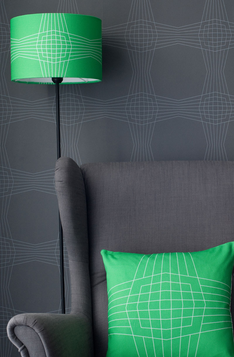 Wallpaper cushion lamp from Patternbooth