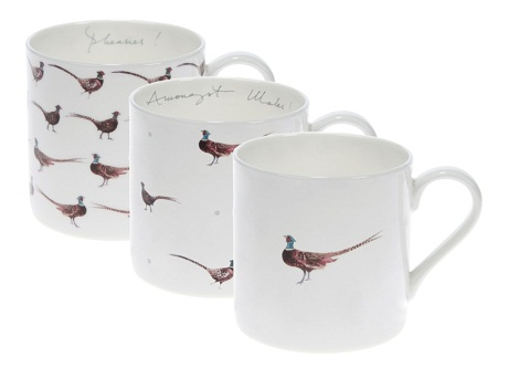 Pheasant Impact Mugs - Gamebird by Sophie Allport