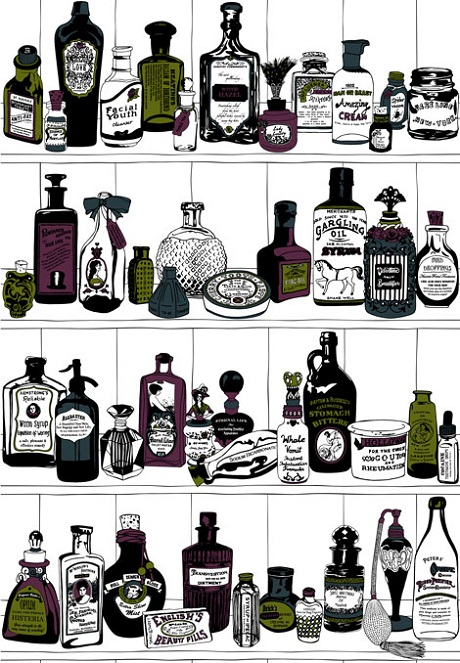 Potions Wallpaper (colour) from Dupenny