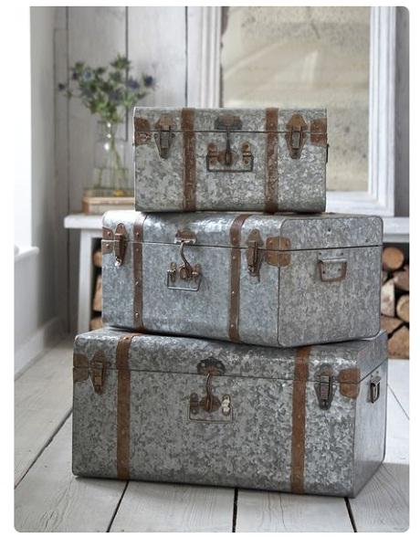 Vintage Style Zinc Trunks, £129.95 - Nordic House