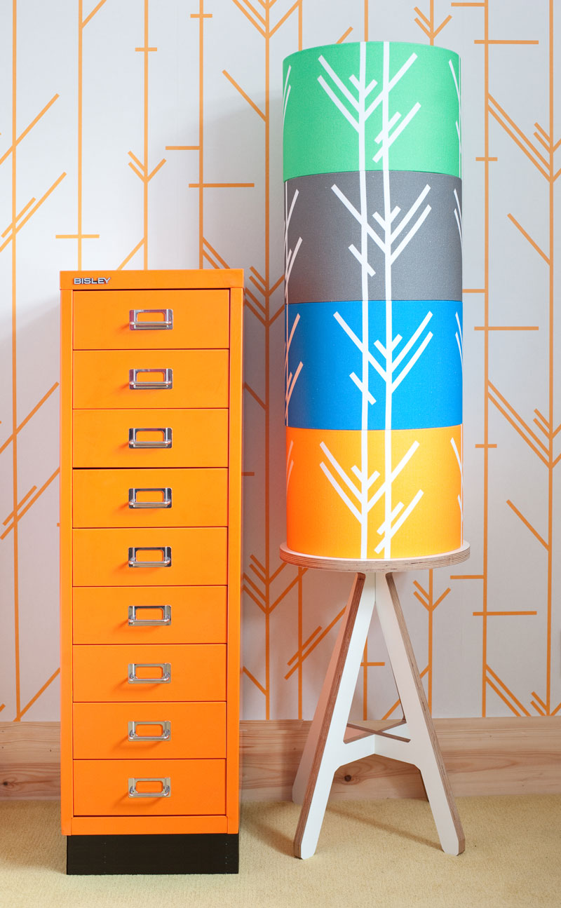 wallpaper and lampshades by Patternbooth