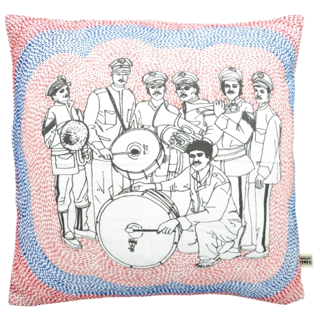 hand printed cushion Kangan Arora