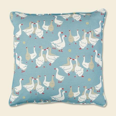 emily birmingham geese cushion