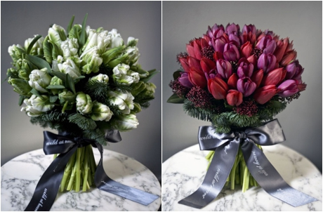 Christmas bouquets from Wild at Heart