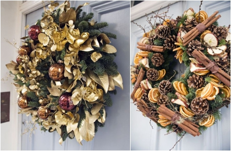 Christmas Door Wreaths by Wild at Heart